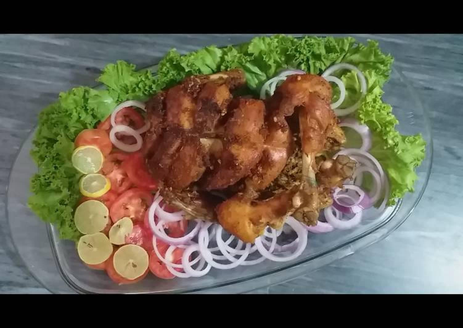 Steam rost chicken