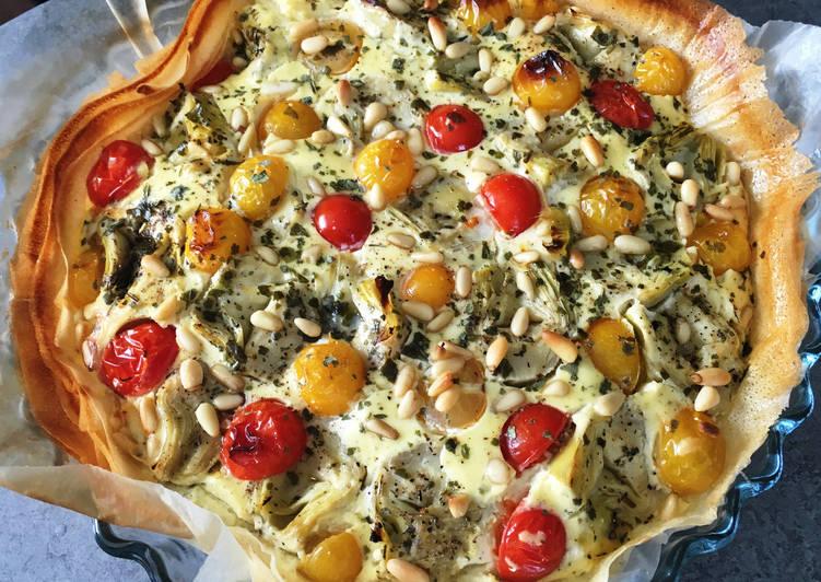 Tarte corolle aux Tomates cerise et cœurs d'Artichauts