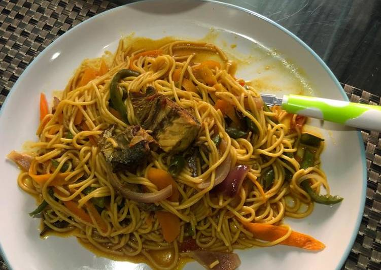 Spagetti with veggies