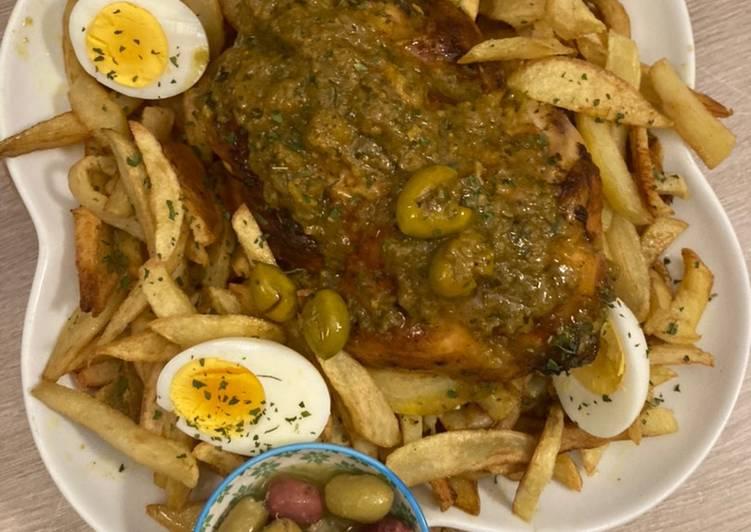 Poulet aux olives et citron confit à la sauce Marocaine!