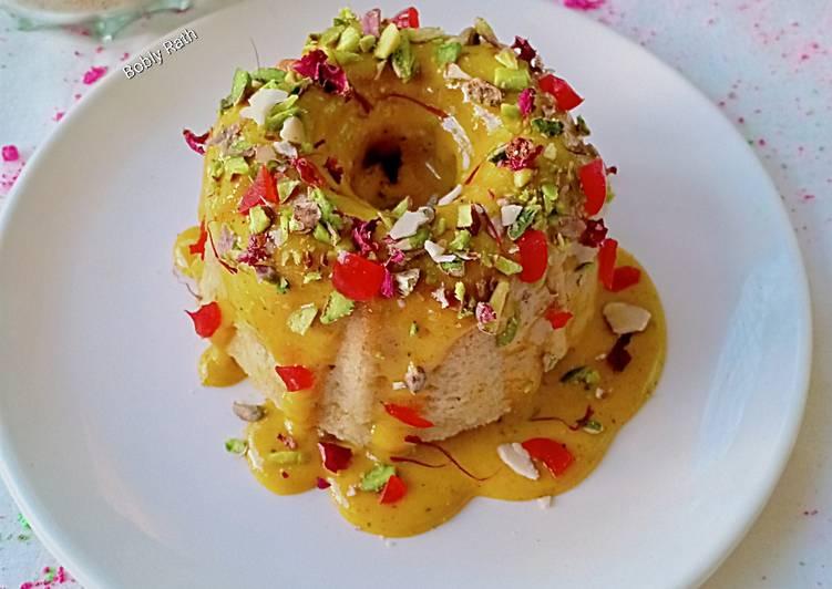 Thandai Bundt cake with Kesar thandai Rabdi frosting