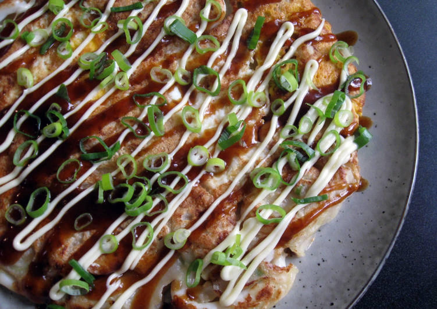 'Ikayaki' Squid Okonomiyaki