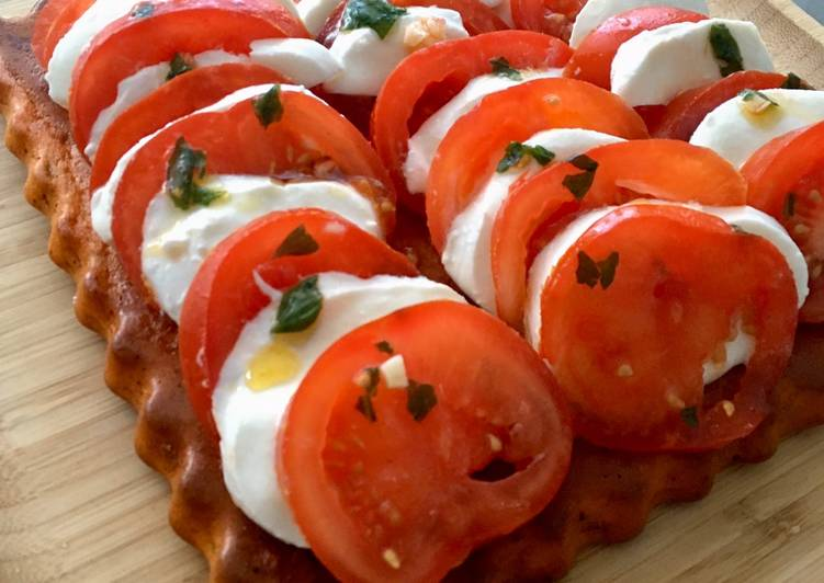 Tarte tomates mozzarella 🍅