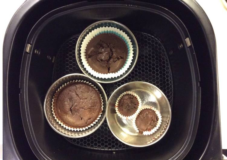 Small batch healthy chocolate cupcakes
