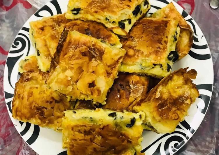 Phyllo cheese pie Egyptian Goulash