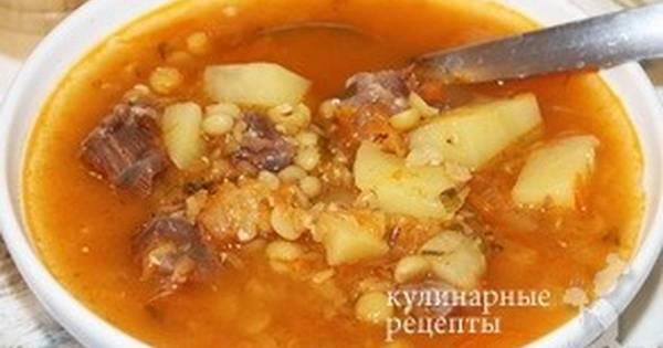 Гороховый суп с чечевицей - пошаговый рецепт с фото. Автор ...