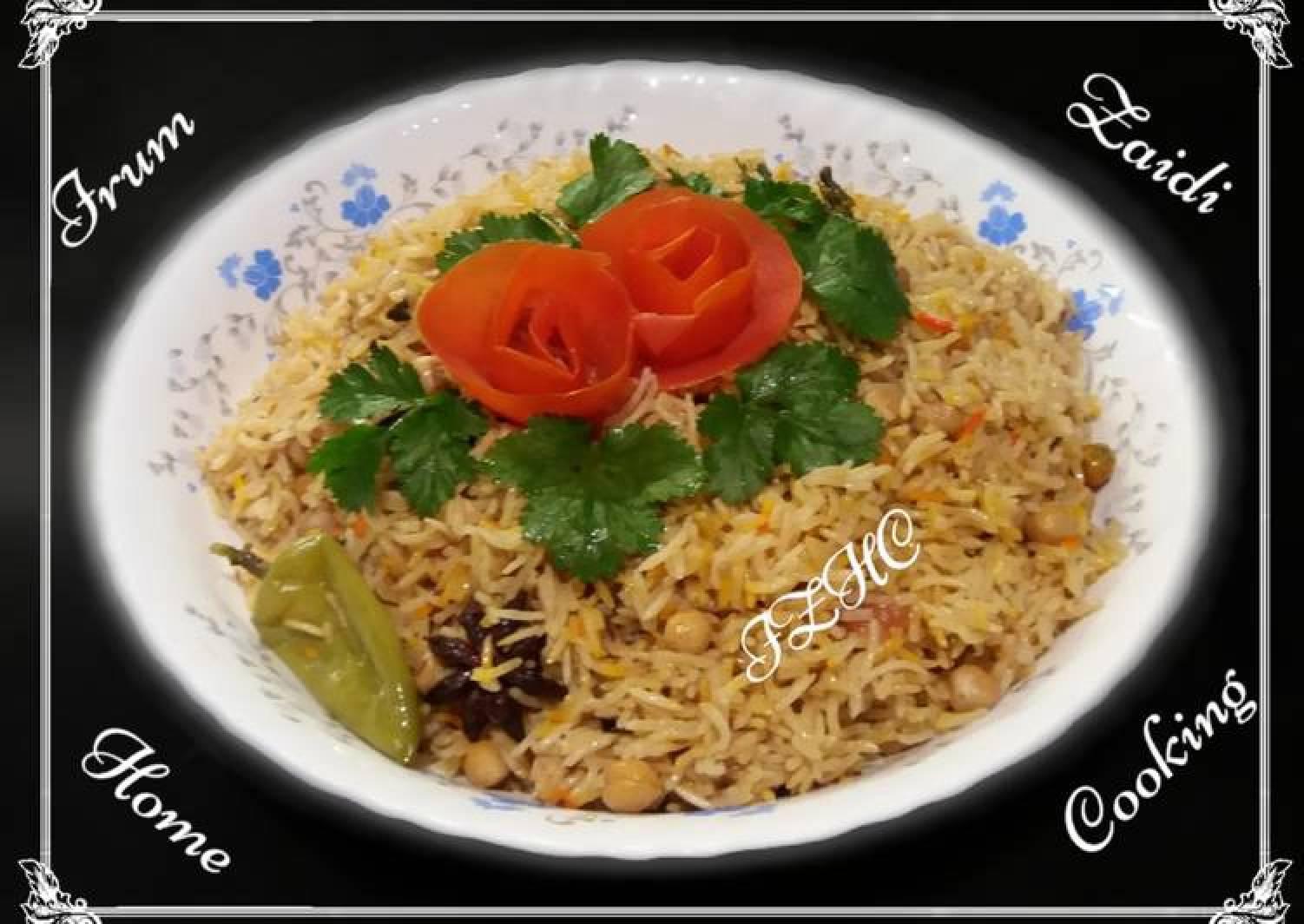 🍝Achari Chana Pulao🍝 (Pickle Chickpea Rice)