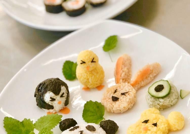 Cute Sushi Rice Balls