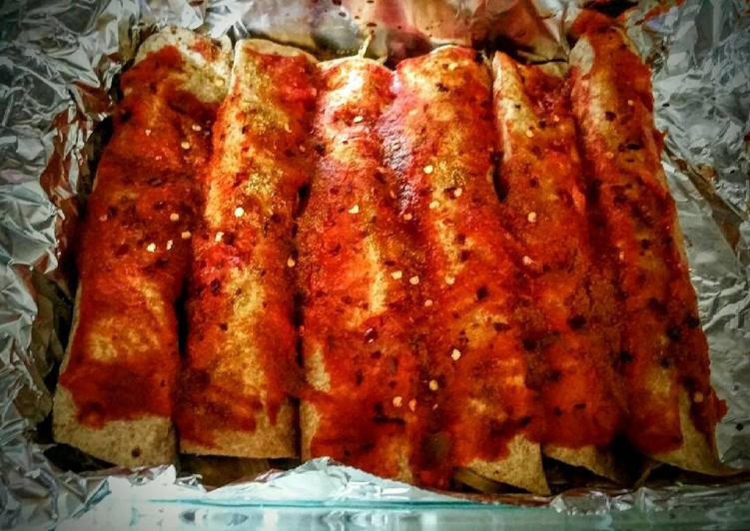 Whole wheat Spicy Turkey Enchiladas
