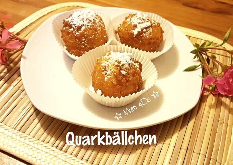 Quarkbällchen - Kue Odading keju simpel à la Jerman