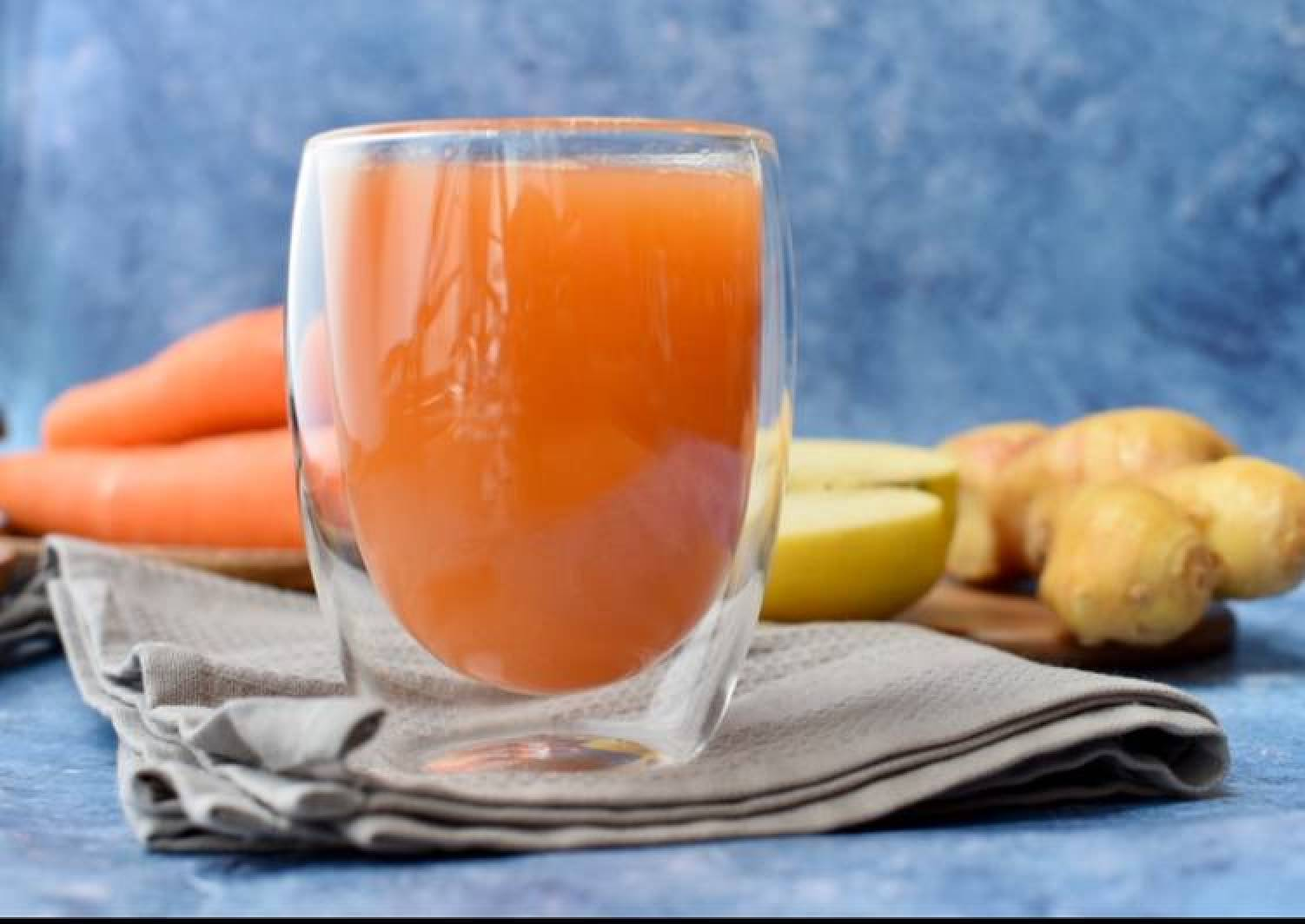 My morning carrot, apple,  ginger juice