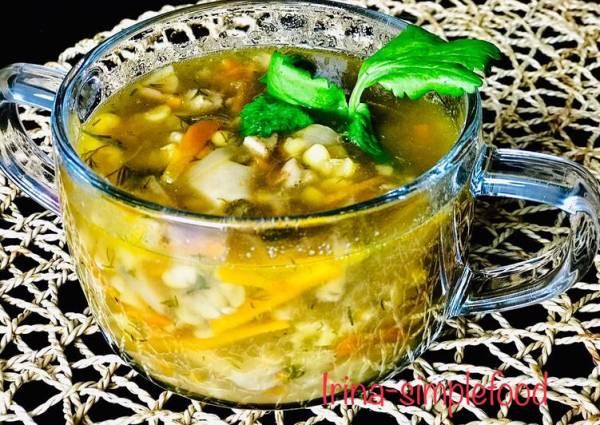 Суп из гороха с белыми грибами, постный - пошаговый рецепт ...