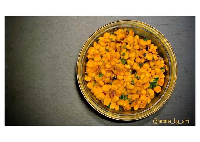 Sweet corn salad   #Vegan  #Budgetbasics #easy #healthy #quick #storecupboardcooking #lunchideas