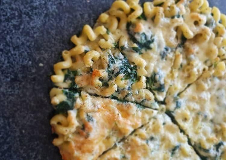 Spinach - Pesto Pasta Frittata