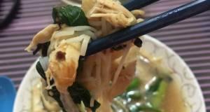 Mee Suah In Chicken With Ginger And Oyster Mushrooms Soup