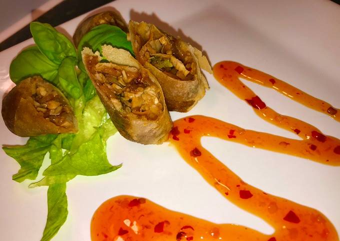Recipe of Speedy Duck or Chicken Pancake Rolls
