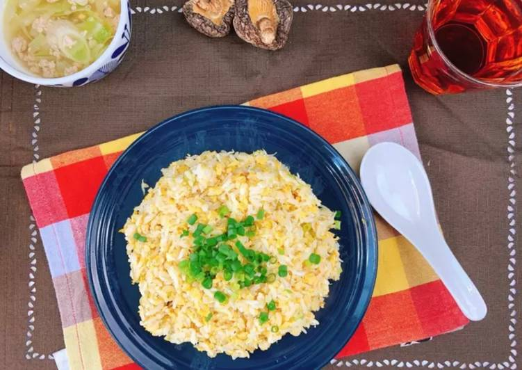 Step-by-Step Guide to Prepare Ultimate Baby Sardines Fried Rice Packed with the Umami taste of Shiitake powder