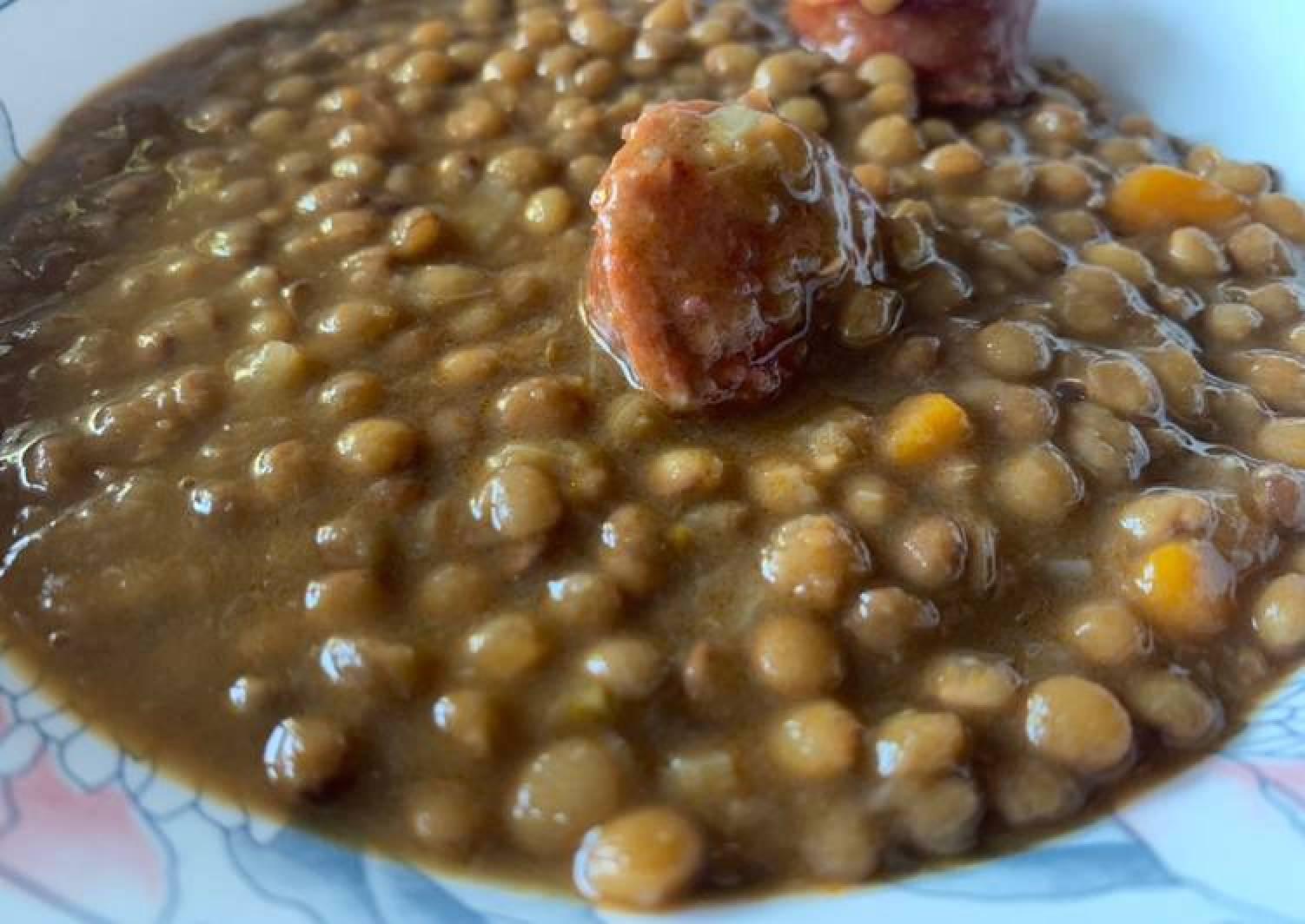 Lentils with chorizo