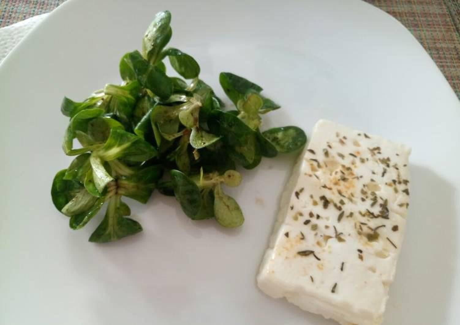 Baked feta cheese