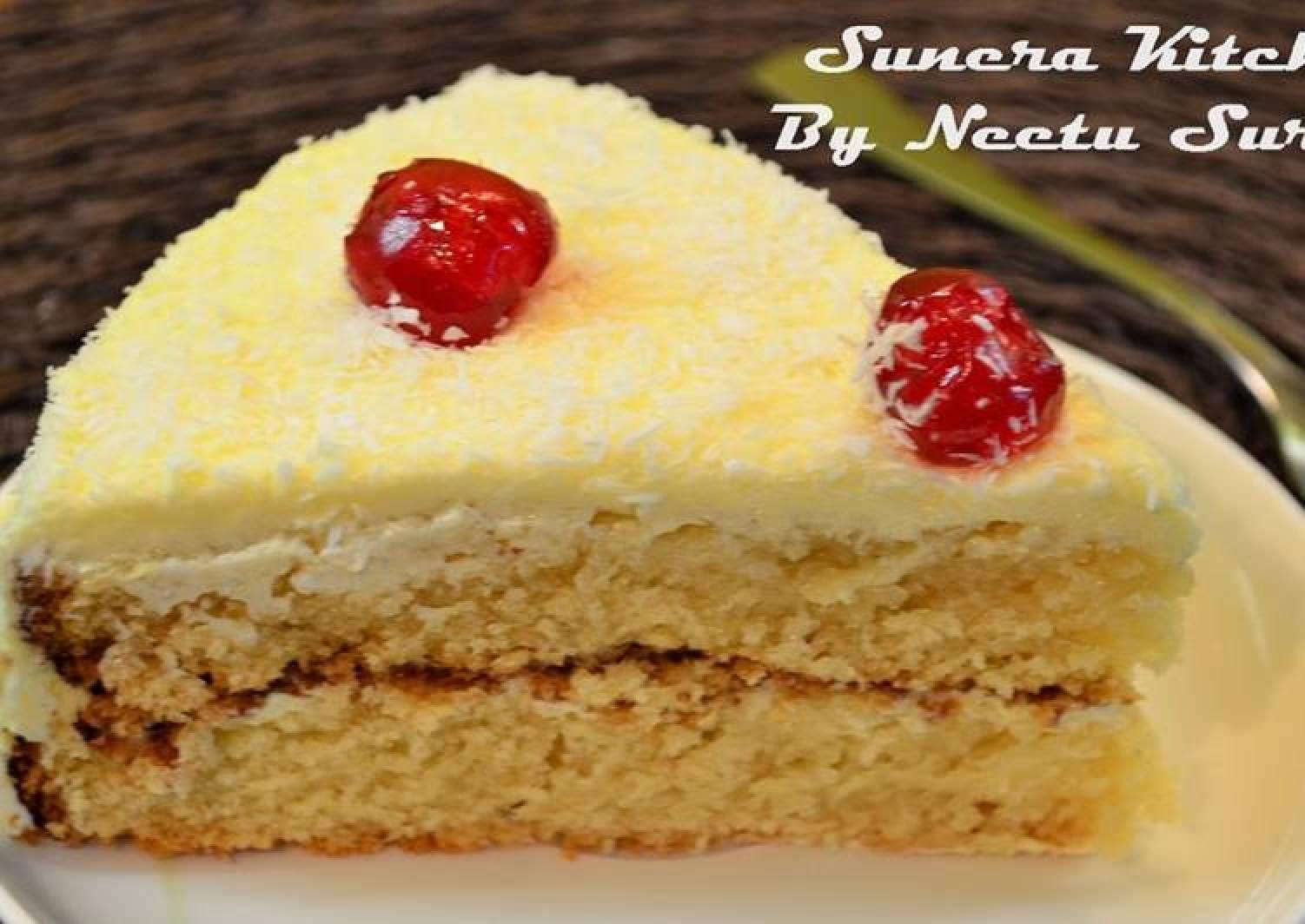 Rasmalai Sponge Cake / Eggless Sponge Cake