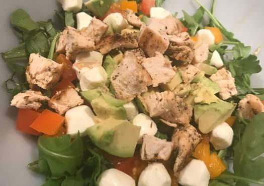 Chicken Arugula Caprese Salad