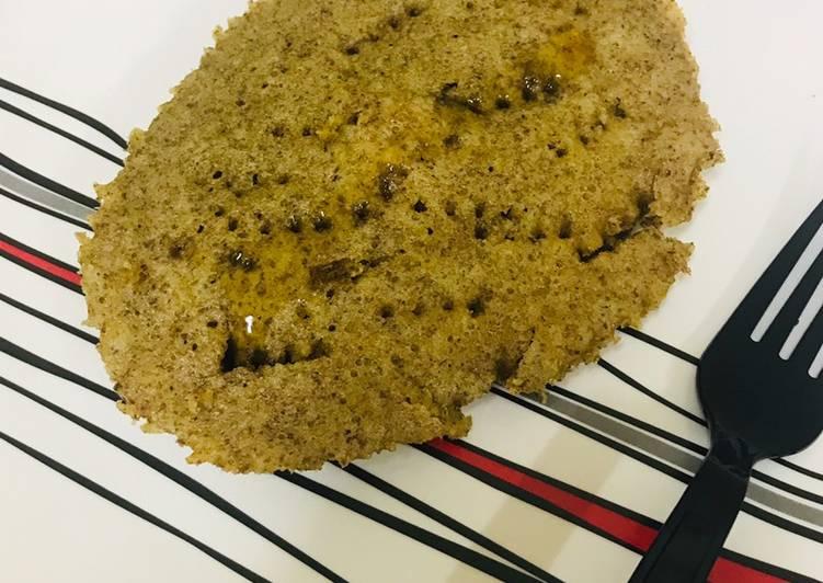 Keto 90 seconds almond bread in microwave