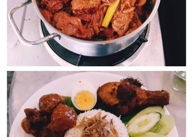 Recipe of Favorite Rendang meat recipe for nasi lemak #mycookbook