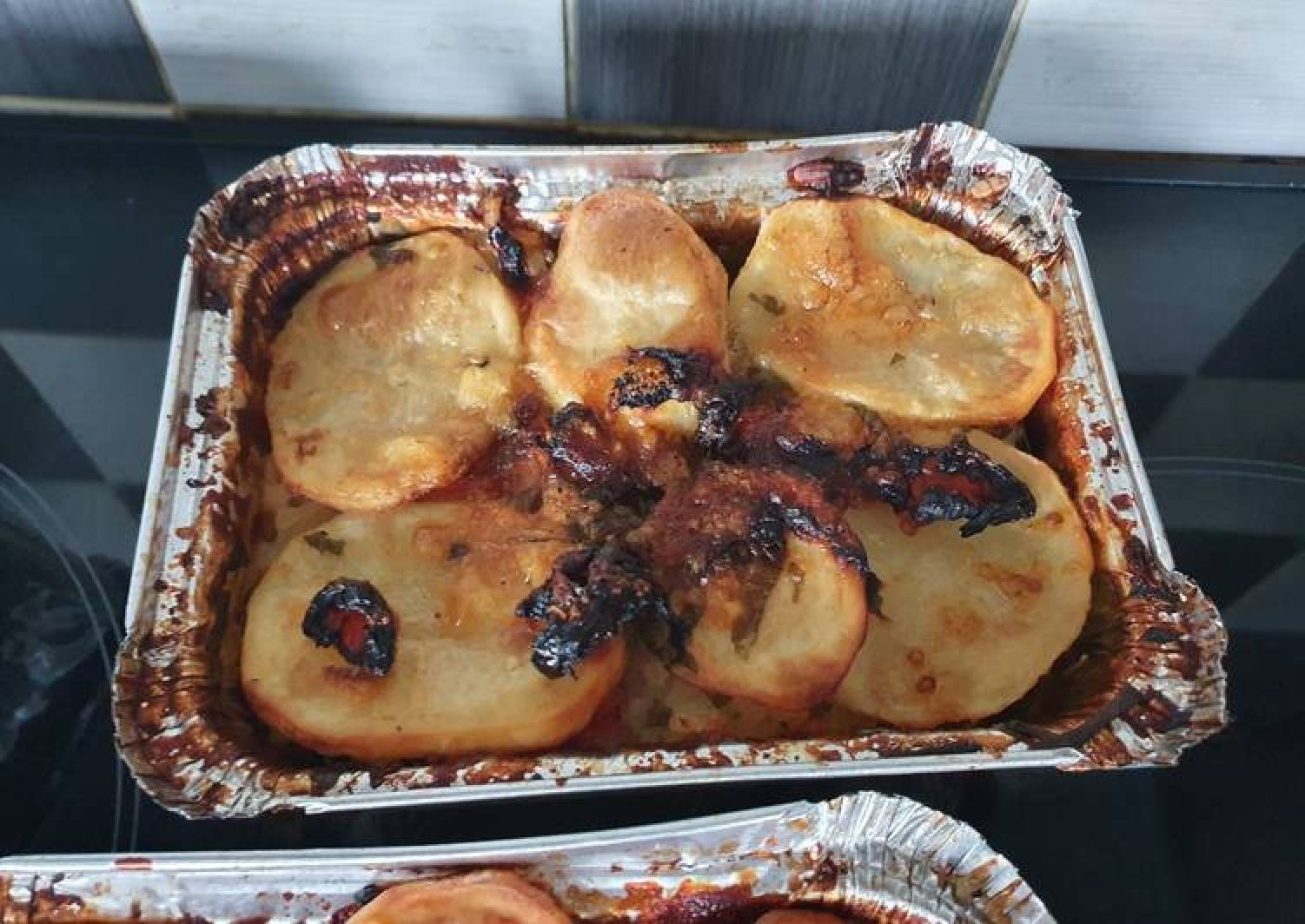 Patate riso e cozze (potato, rice and mussels)