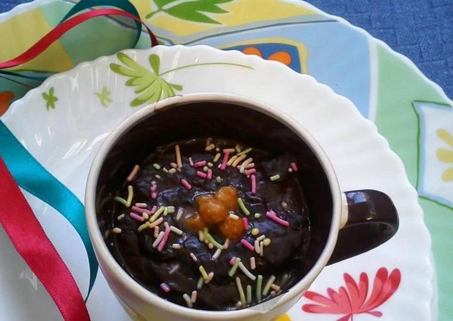 Eggless Chocolate Mug Pudding