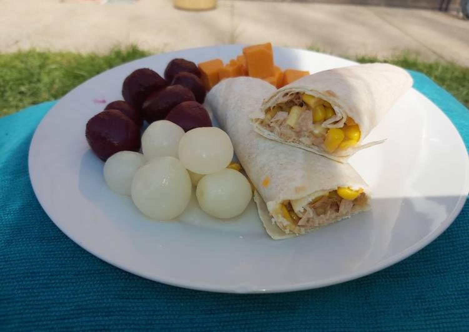Tuna & Sweetcorn Wrap 🌽🌯