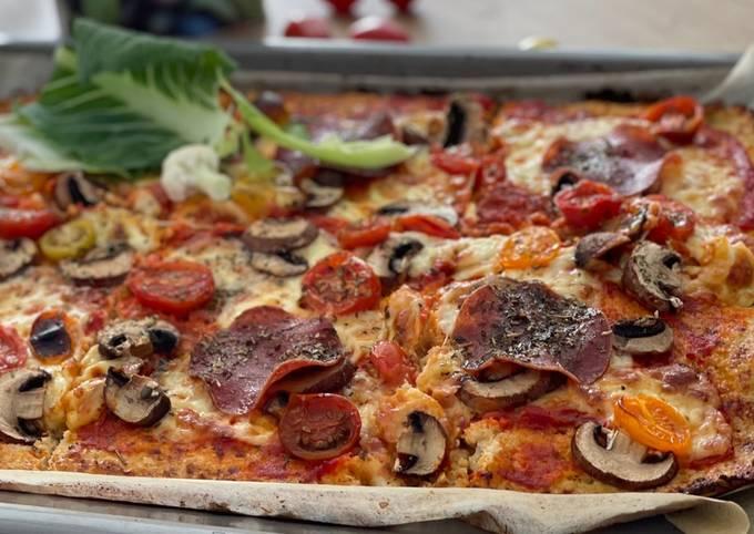 Der einfache Weg Um Superschnelle Hausgemachte Blumenkohlpizza zu machen