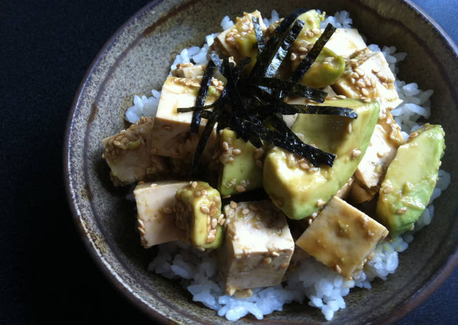 Avocado & Tofu Wasabi-ae
