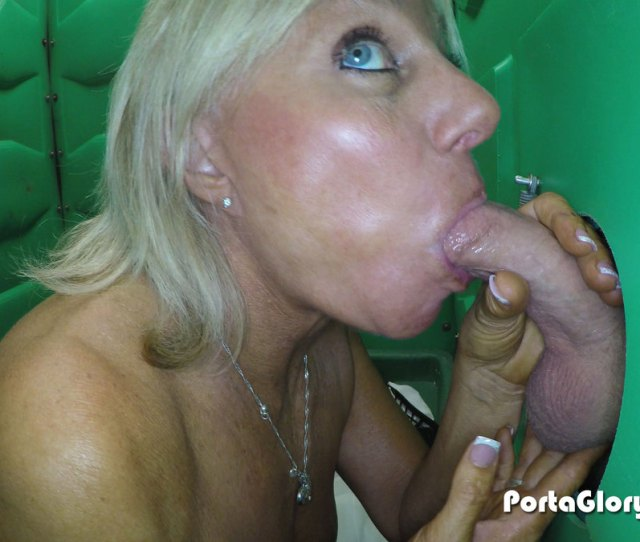 Porta Gloryhole Mature Babe Swallows Lots Of Cum