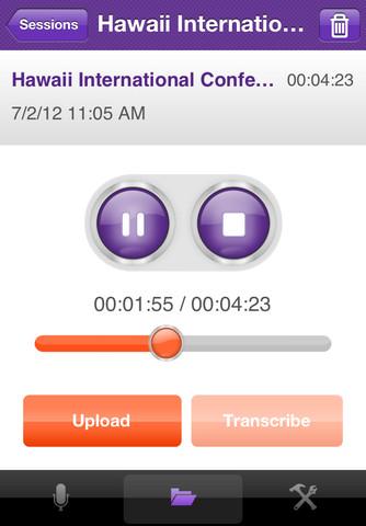 TranscribeMe mobile transcription app