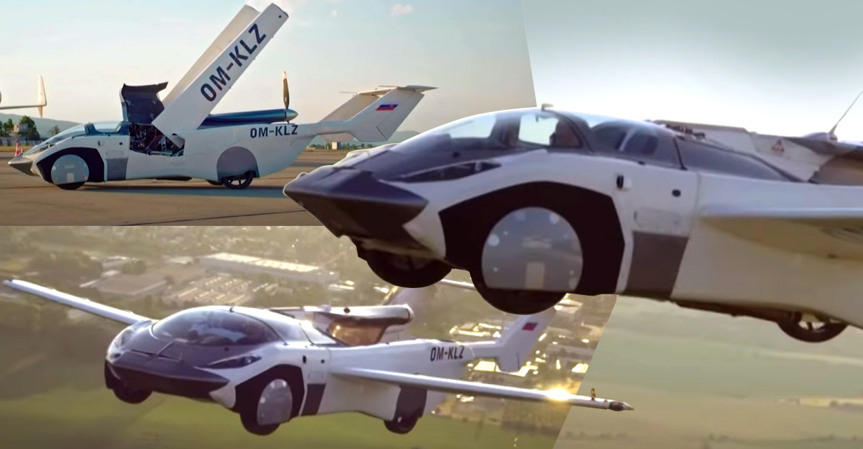 'Car plane' flew from the airport: 35 minutes to fly Awesome!  |  Flying car |  successful test |  Slovakia |  Wonder World
