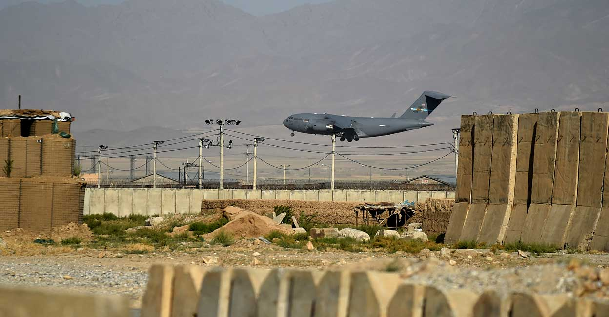 U.S. forces withdraw completely from Bagram air base in Afghanistan  Bagram Air Base Afghanistan US NATO