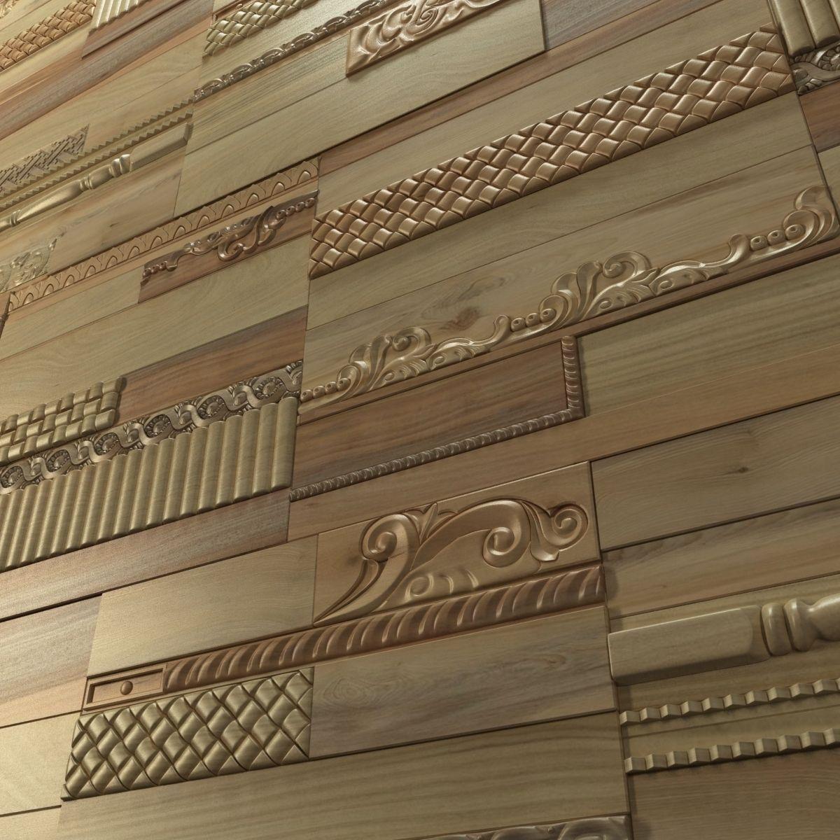 Wanderwall Phoenix 3d Wall Wood Tiles 3D Model .max .obj ... on Tile Models  id=68196