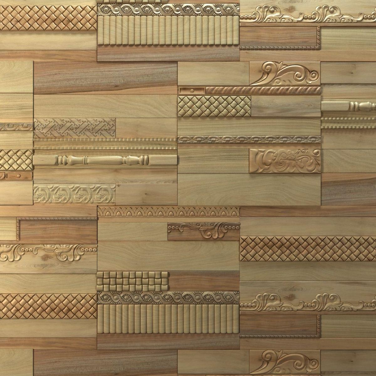 Wanderwall Phoenix 3d Wall Wood Tiles 3D Model .max .obj ... on Tile Models  id=66469