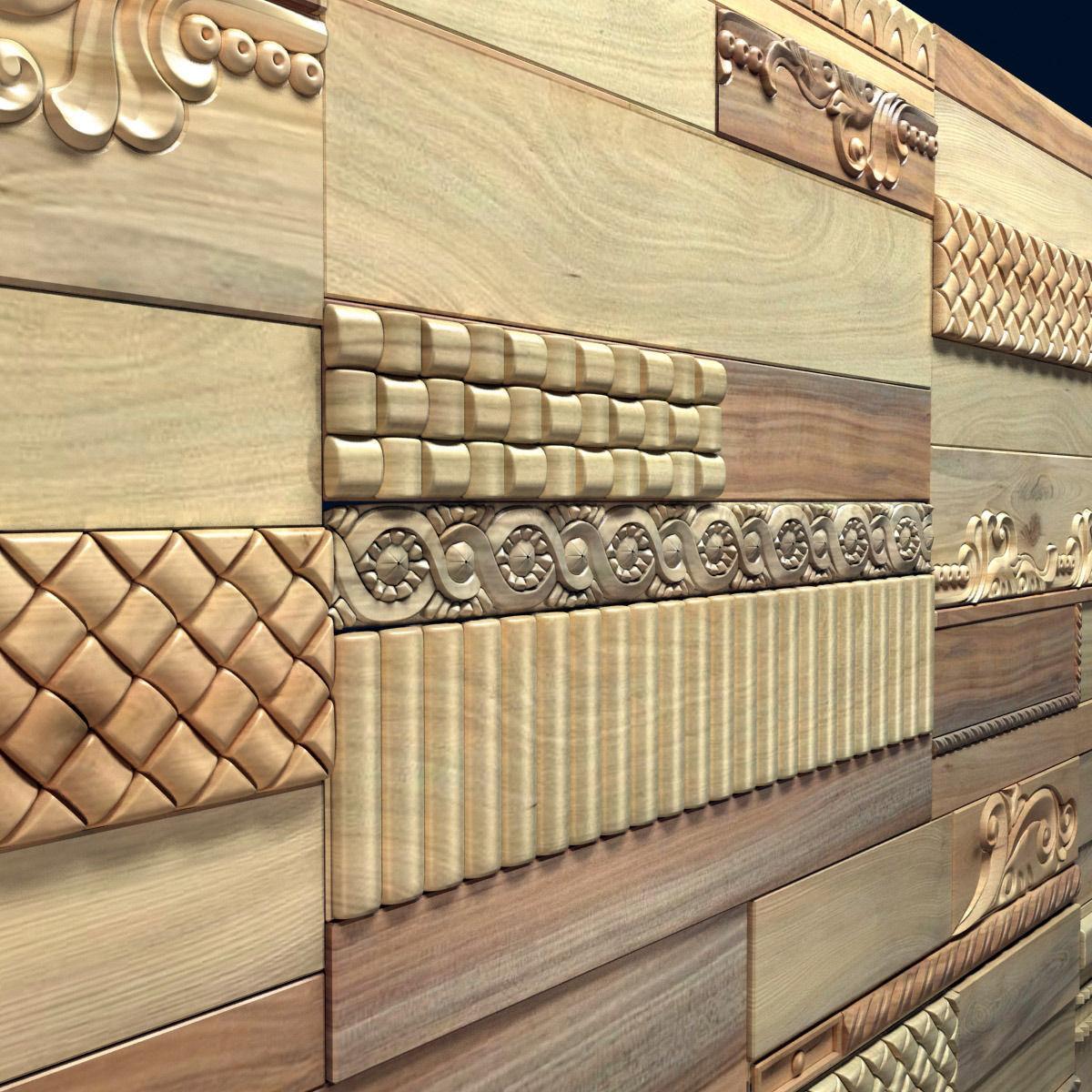 Wanderwall Phoenix 3d Wall Wood Tiles 3D Model .max .obj ... on Tile Models  id=55102