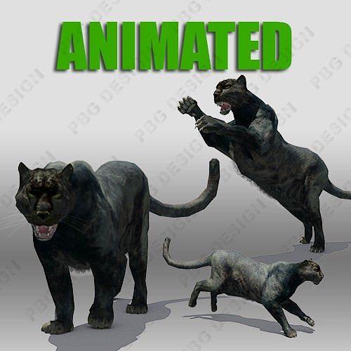 Black Panther Animation 3D Asset CGTrader