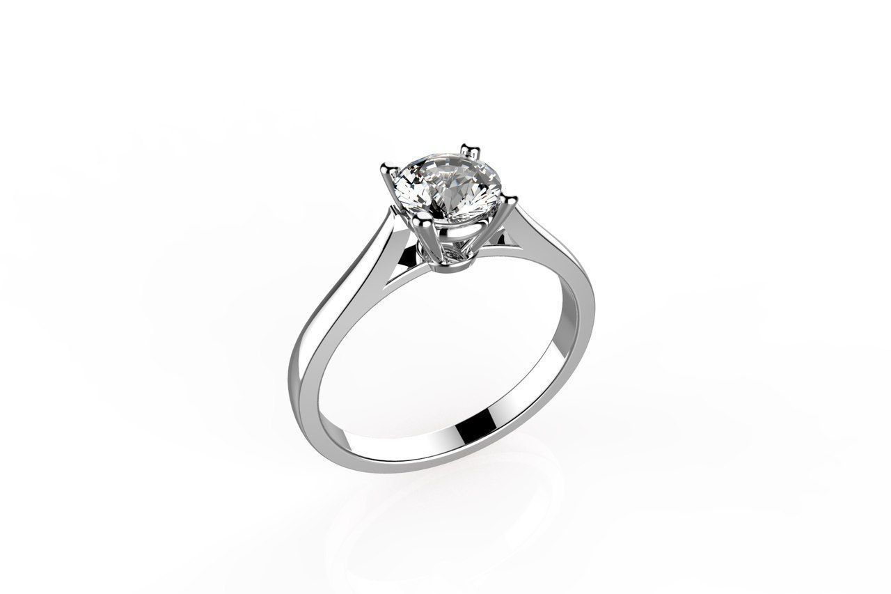 Cartier Solitaire Ring 3d Model 3d Printable L 3dm
