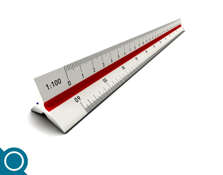 Architect Scale Ruler 3d Model X Obj Fbx C4d Mb