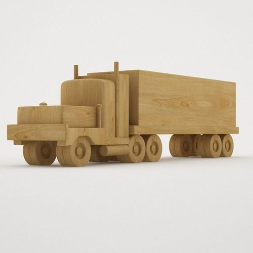 3d model wooden toy truck
