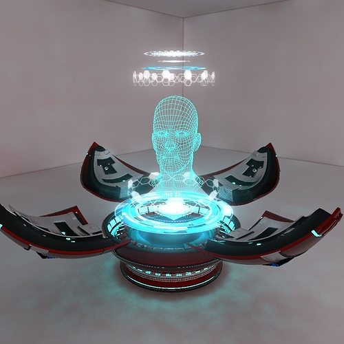 3D Model Holographic Projector CGTrader