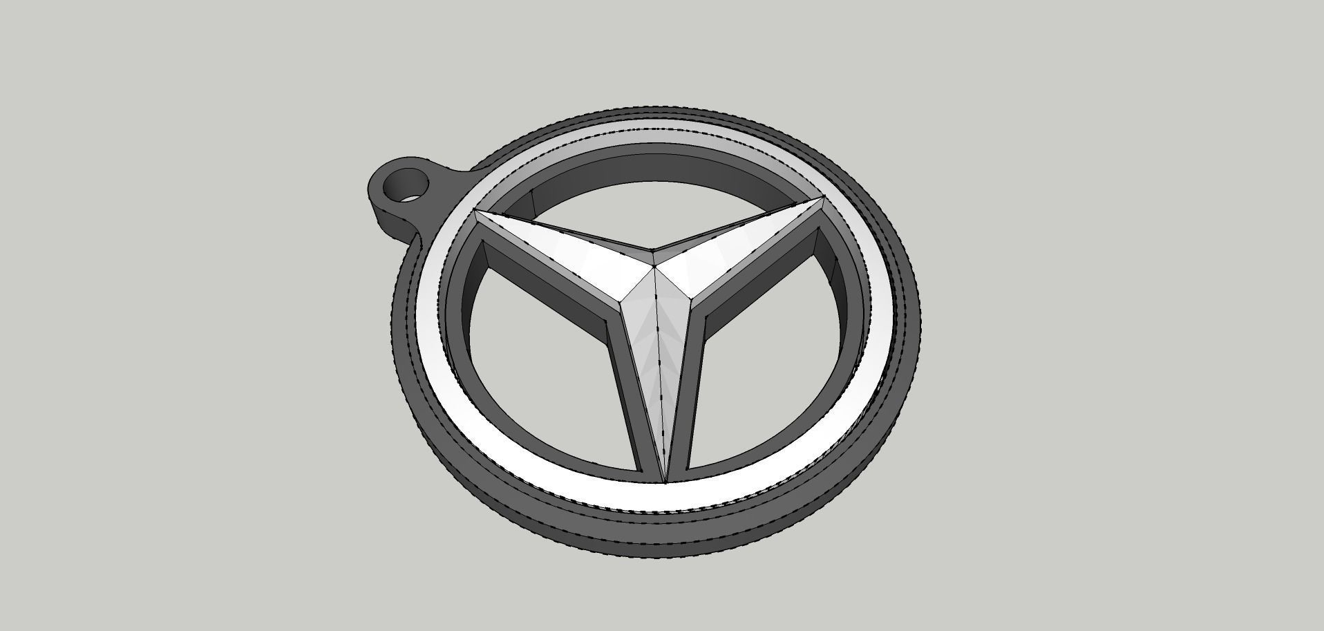 Mercedes Benz Double Sided Printable Keyring 3d Model 3d