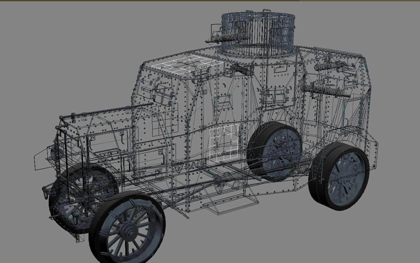 Ehrardt E V 4 Armoured Car 3d Model X Obj L