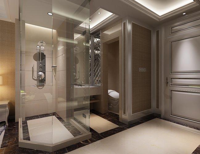 Photoreal bathroom 3D model | CGTrader on Bathroom Model Design  id=55580