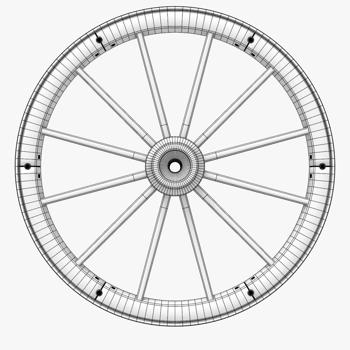 Wagon Wheel 3d Model Obj 3ds Stl Blend Dae Mtl