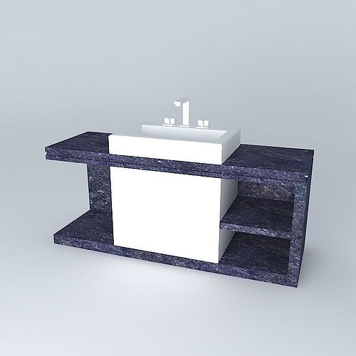 pia de granito granite sink free 3D Model MAX OBJ 3DS FBX ... on Granite Models  id=50984