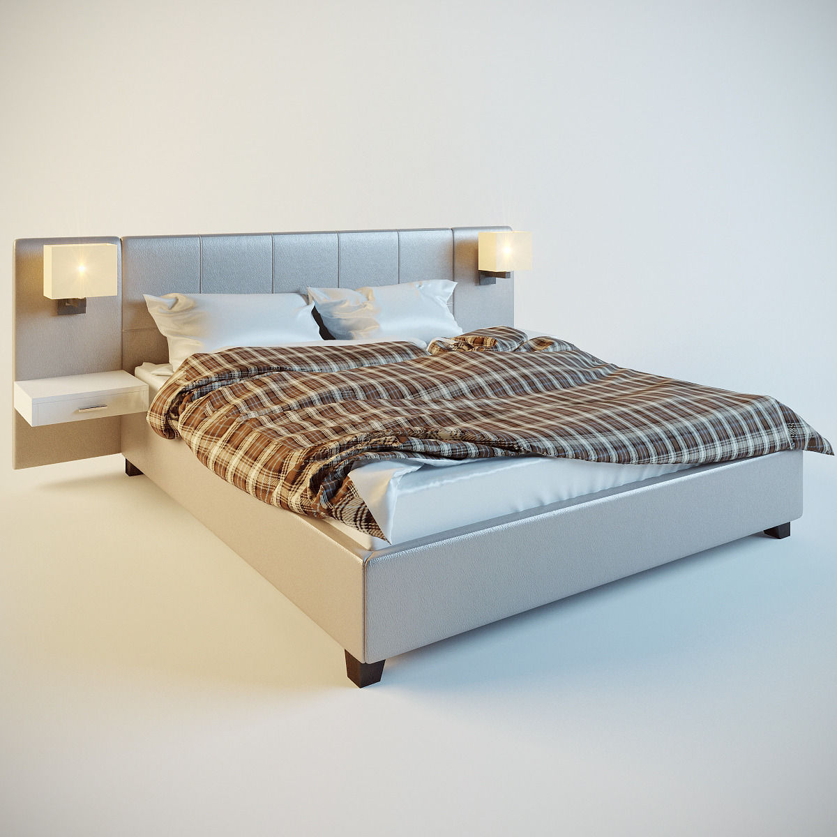 Bed for bedroom 3D Model .3ds - CGTrader.com on New Model Bedroom  id=47343